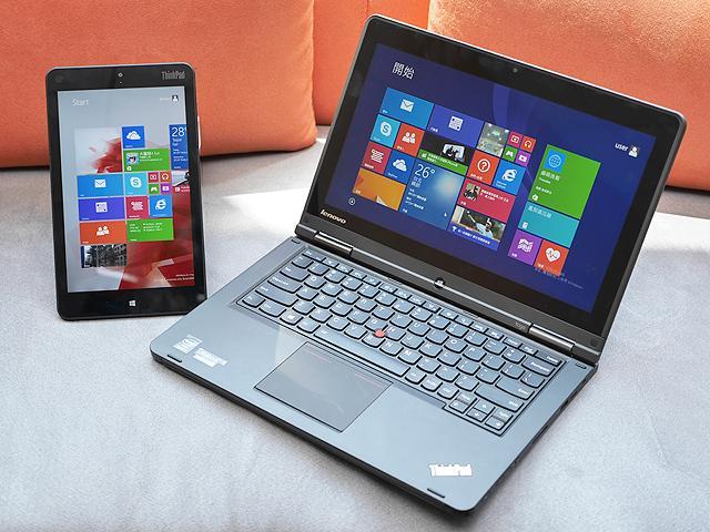 即將登台 聯想ThinkPad 8平板與Yoga筆電動手玩