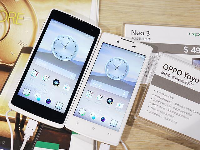 OPPO雙卡入門機Yoyo、Neo 3台灣開賣【2014電腦應用展】