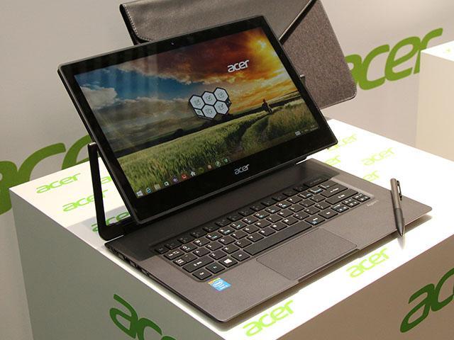 宏碁360度轉軸設計筆電Aspire R13 兼具平板等模式【IFA 2014】