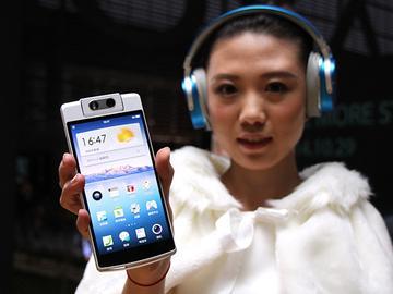 5.5吋自拍手機OPPO N3 首創電動旋轉鏡頭