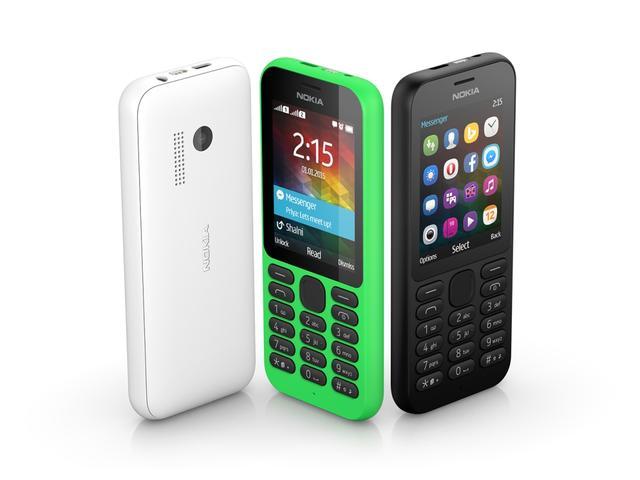 目標下一個十億用戶 微軟發表NOKIA 215低價聯網手機