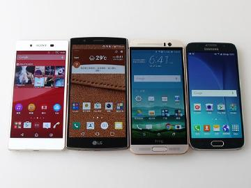 [比較]Sony Z3+/LG G4/HTC M9+/三星S6旗艦機速比