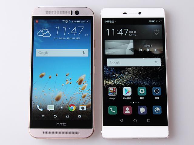 [比較]HTC M9、華為P8金屬旗艦機比一比