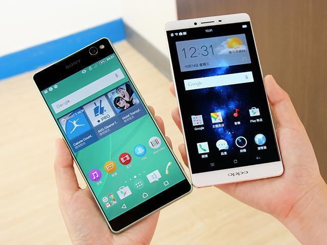 [比較]6吋手機挑誰好?OPPO R7 Plus、Sony C5 Ultra