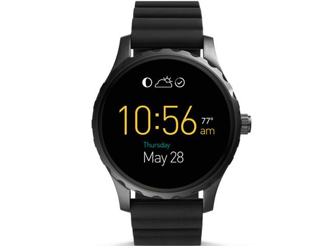 Fossil Q Marshal Black Silicone