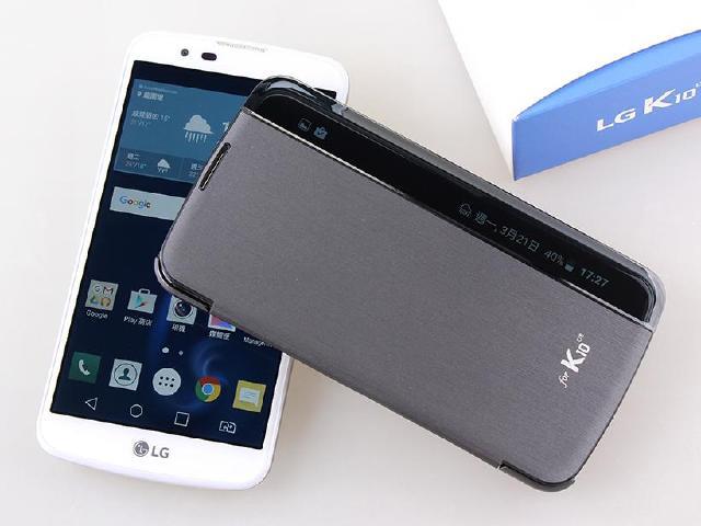 [開箱]5.3吋LG K10雙卡機 側邊顯示皮套好便利