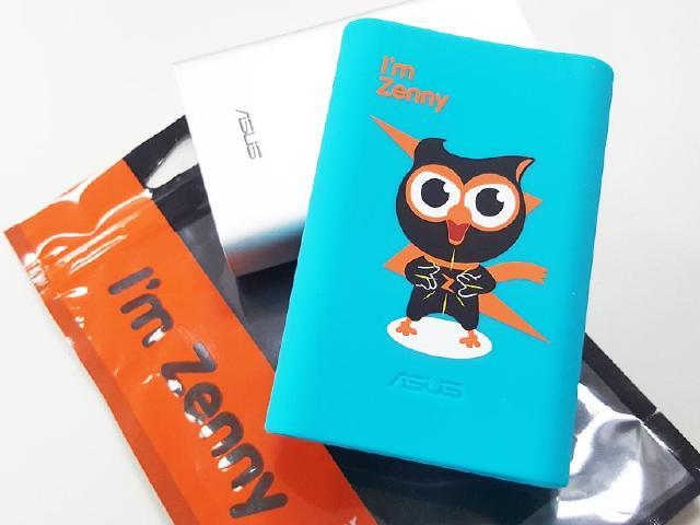 [開箱]活潑造型 I'm Zenny ZenPower緞面矽膠保護套