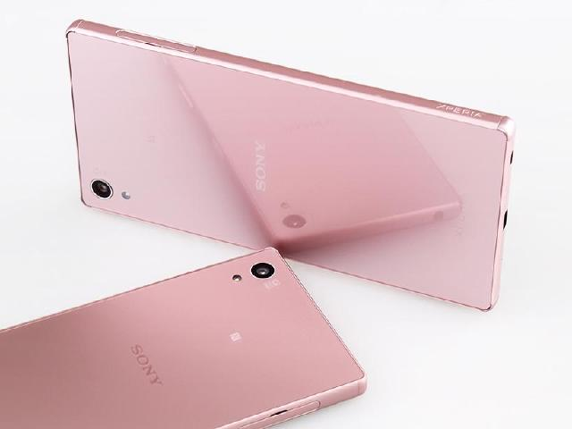 Sony Z5/Z5P玫瑰石英粉雙姝 顏色差異比較