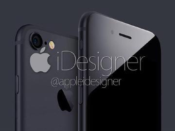 iPhone 7將有「太空黑」新色?實際模擬圖流出