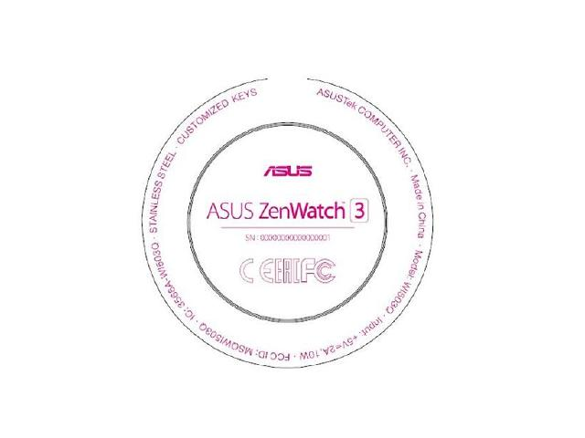 ASUS ZenWatch 3智慧手錶外型亮相 傳8/31發表