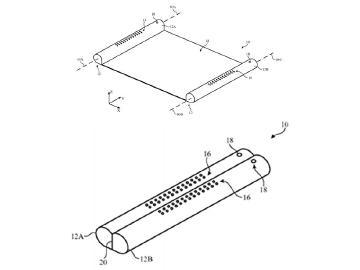 蘋果新專利 可捲式螢幕與Apple Pencil筆架配件