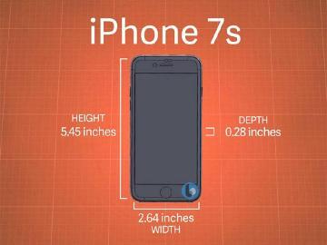 疑似iPhone 7S機身尺寸流出 專利聲波成像辨識技術曝光