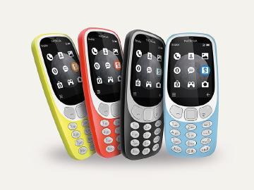 3G版NOKIA 3310終於發表 台灣傳最快11月上市
