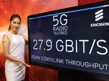 遠傳電信攜手愛立信展演5G原型機 下載網速高達27Gbps