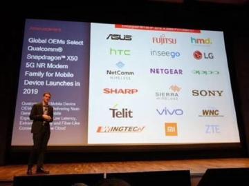 華碩、HTC與Sony等品牌採用高通方案 5G手機明年問世