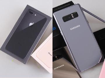 台灣1月手機買氣冷 i8+單機最熱銷 Note8安卓旗艦賣最好