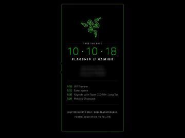 雷蛇10/10加州發表新品 Razer Phone 2可能亮相