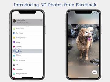 Facebook開放照片轉3D影像功能 僅支援部分雙鏡頭手機