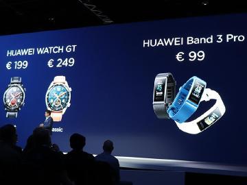 HUAWEI Watch GT與Band 3 Pro穿戴發表 強化心率偵測
