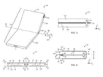 蘋果可折式裝置新專利亮相 柔性螢幕最多折兩次