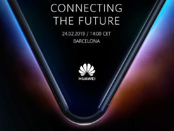 華為折疊手機支援5G連網 2月24日發表[MWC 2019]
