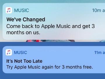 蘋果針對曾使用過Apple Music的用戶提供免費試用