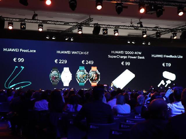 華為發表穿戴新品 FreeLace無線藍牙耳機、新款Watch GT智慧手錶齊亮相
