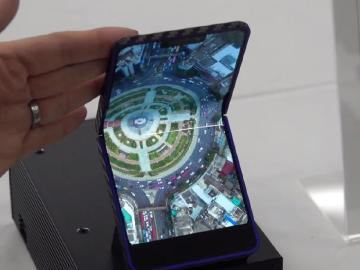 夏普發表6.18吋可折疊OLED 原型機採用翻蓋設計