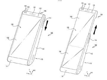三星手機新專利曝光 可撓式柔性螢幕採捲動收納