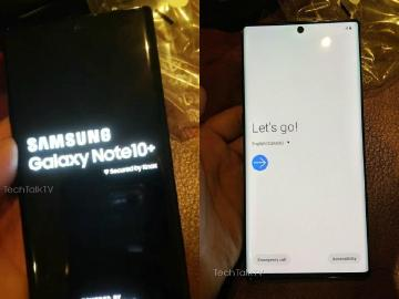 SAMSUNG Note 10+實機曝光 螢幕正上方開孔放鏡頭