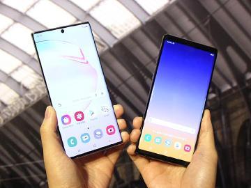 三星大螢幕旗艦機 Note 9與Note 10前後代規格比較