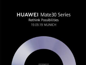 華為新旗艦手機HUAWEI Mate 30 確定9月慕尼黑發表