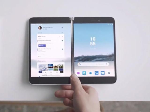 微軟發表雙螢幕設計Surface Duo重返手機市場