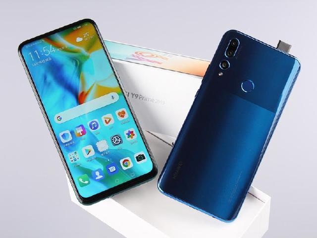 華為也有升降鏡頭自拍手機 Y9 Prime 2019雙色開箱