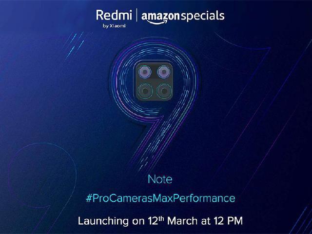 紅米手機也用矩陣四鏡頭 Redmi Note 9印度3月中旬發表