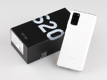 全球限定新顏色 SAMSUNG S20+晴空白開箱