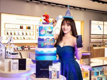 vivo慶祝登台三周年 12月底購買手機最高可享萬元好禮