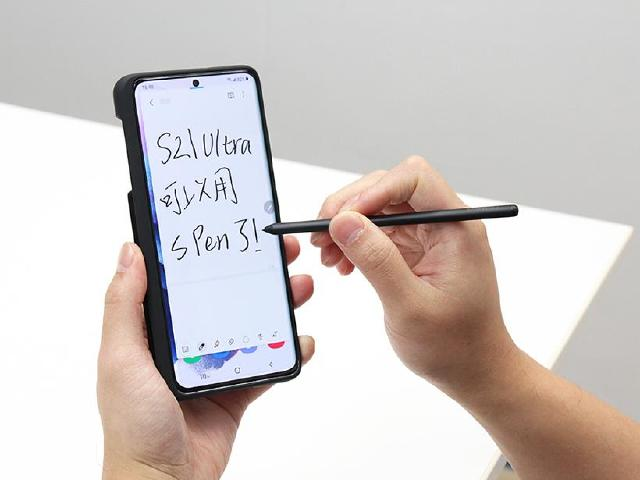 不是Note也支援S Pen!三星S21 Ultra專屬皮套與背蓋開箱