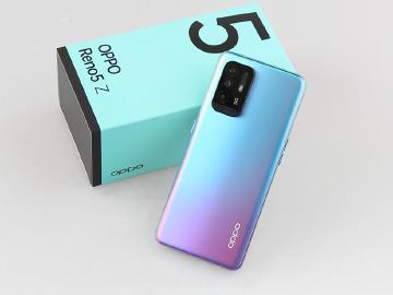 輕薄5G中階手機 OPPO Reno5 Z開箱跑分與拍照