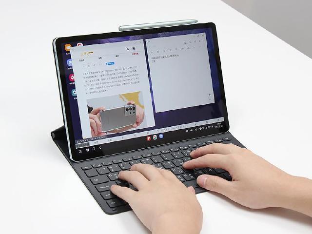 12.4吋大平板 SAMSUNG Tab S7 FE 5G鍵盤套裝組開箱
