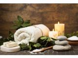 Medium spa arrangement with towel soap salt 23 2148268482